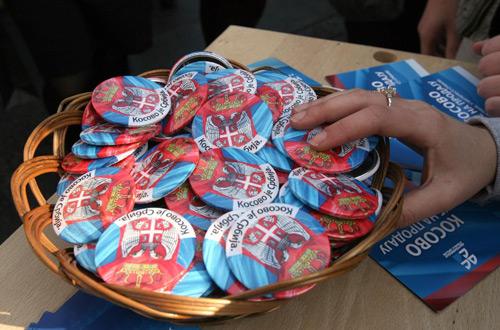 Akcija omladine pod nazivom Kosovo je Srbija u Knez Mihailovoj ulici (FoNet)